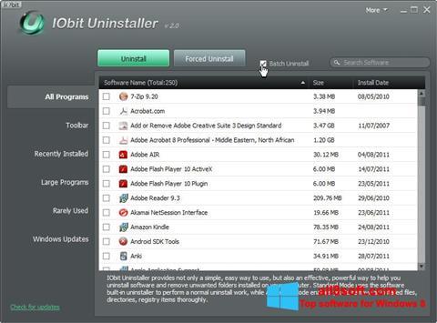 સ્ક્રીનશૉટ IObit Uninstaller Windows 8