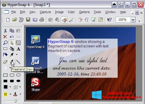 સ્ક્રીનશૉટ HyperSnap Windows 8