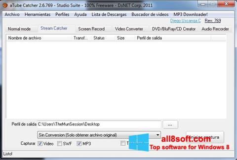 સ્ક્રીનશૉટ aTube Catcher Windows 8