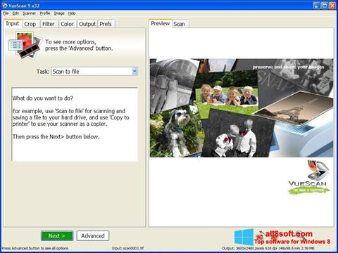 સ્ક્રીનશૉટ VueScan Windows 8