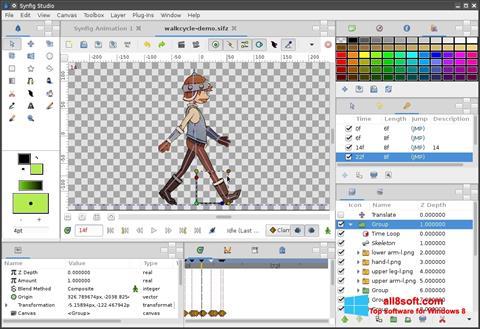 સ્ક્રીનશૉટ Synfig Studio Windows 8