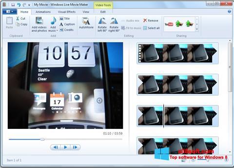 સ્ક્રીનશૉટ Windows Live Movie Maker Windows 8