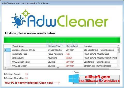 સ્ક્રીનશૉટ AdwCleaner Windows 8