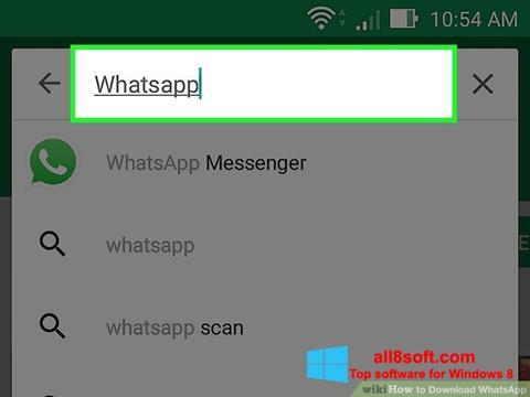 સ્ક્રીનશૉટ WhatsApp Windows 8