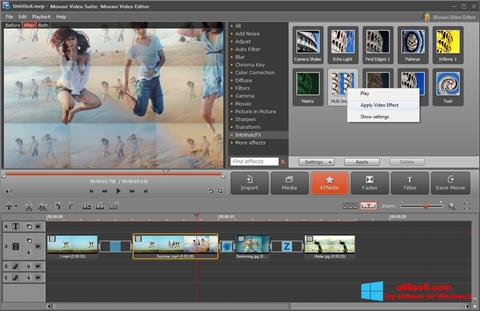 સ્ક્રીનશૉટ Movavi Video Suite Windows 8