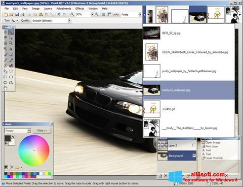 સ્ક્રીનશૉટ Paint.NET Windows 8
