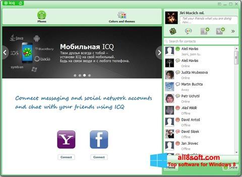 સ્ક્રીનશૉટ ICQ Windows 8