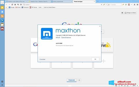સ્ક્રીનશૉટ Maxthon Windows 8