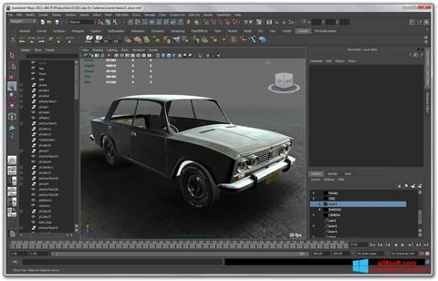 સ્ક્રીનશૉટ Autodesk Maya Windows 8