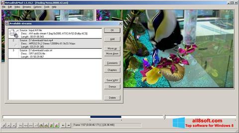 સ્ક્રીનશૉટ VirtualDubMod Windows 8
