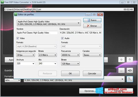 સ્ક્રીનશૉટ Free MP4 Video Converter Windows 8