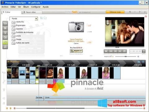 સ્ક્રીનશૉટ Pinnacle VideoSpin Windows 8