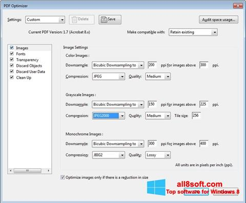 સ્ક્રીનશૉટ Adobe Acrobat Pro DC Windows 8
