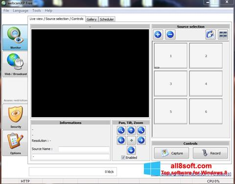 સ્ક્રીનશૉટ webcamXP Windows 8