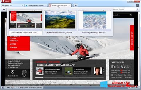 સ્ક્રીનશૉટ Opera Windows 8