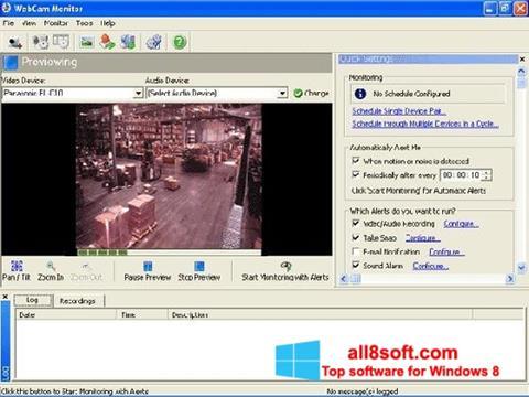સ્ક્રીનશૉટ WebCam Monitor Windows 8