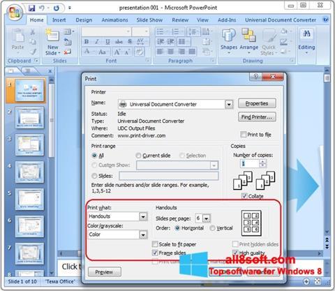 સ્ક્રીનશૉટ Microsoft PowerPoint Windows 8