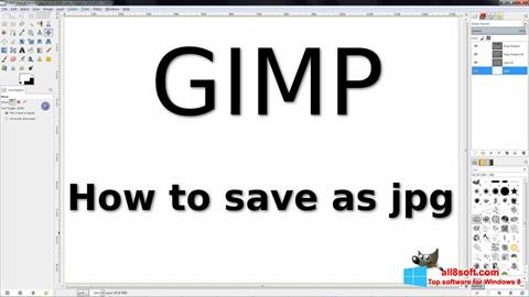 સ્ક્રીનશૉટ GIMP Windows 8