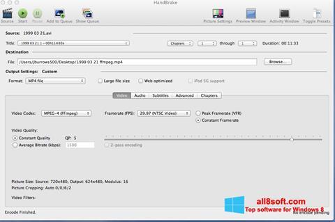 સ્ક્રીનશૉટ HandBrake Windows 8