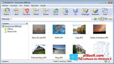 સ્ક્રીનશૉટ WinZip Windows 8