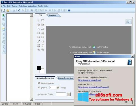 સ્ક્રીનશૉટ Easy GIF Animator Windows 8