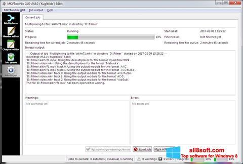 સ્ક્રીનશૉટ MKVToolnix Windows 8