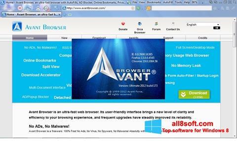 સ્ક્રીનશૉટ Avant Browser Windows 8