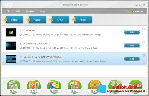 સ્ક્રીનશૉટ Freemake Video Converter Windows 8