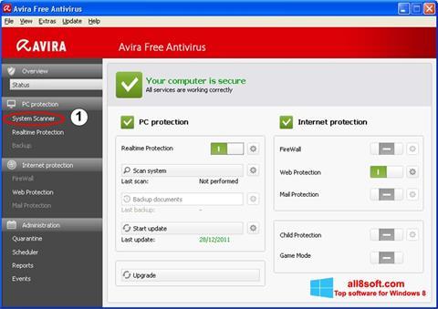 સ્ક્રીનશૉટ Avira Windows 8