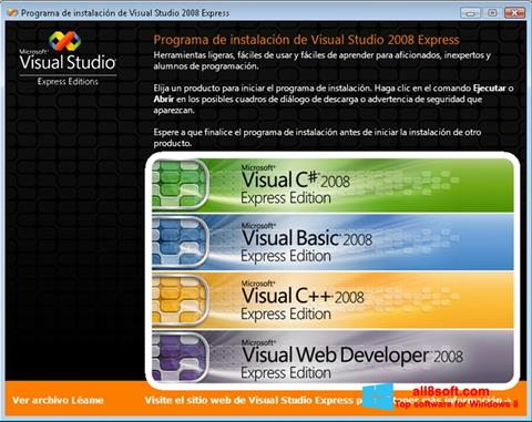 સ્ક્રીનશૉટ Microsoft Visual Studio Windows 8