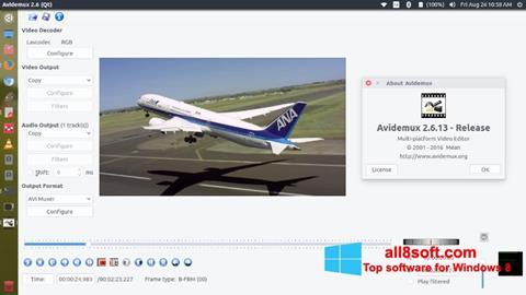 સ્ક્રીનશૉટ Avidemux Windows 8